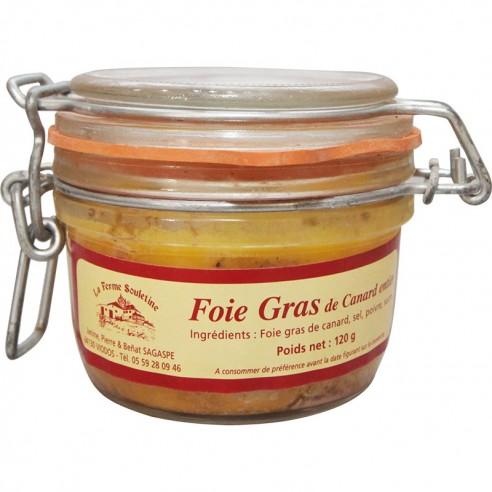 Foie gras de canard entier bocal 120g