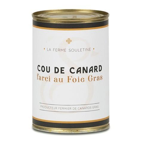 Cou de canard farci au foie gras (330g)