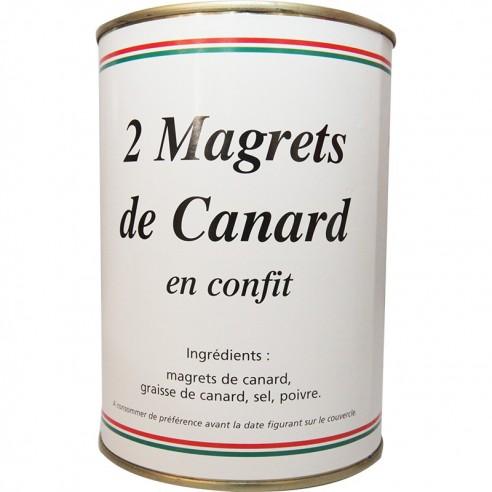 2 Magrets de canard confits (poids net 850g)