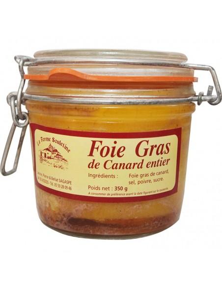 Foie gras de canard entier bocal 350g