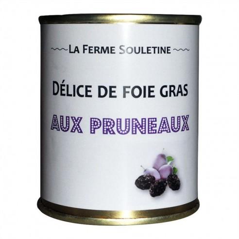 Délice de foie gras de canard aux pruneaux (130g)