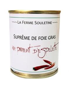 Suprême de foie gras de canard au piment d'Espelette Boîte 130g