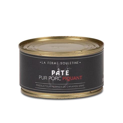 Pâté de foie pur porc piquant (200g)