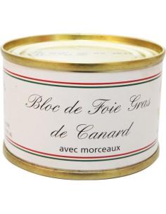 Bloc foie gras de canard avec morceaux boîte ronde 65g