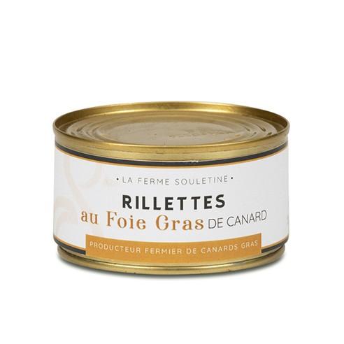 Rillettes au foie gras (200g)